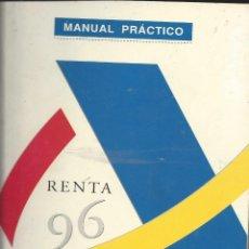 Libros de segunda mano: MANUAL PRACTIVO RENTA 1996. AGENCIA TRIBUTARIA. Lote 155588766