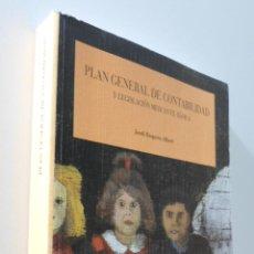 Libros de segunda mano: PLAN GENERAL DE CONTABILIDAD Y LEGISLACIÓN MERCANTIL BÁSICA - ROQUETA ALBERT, JORDI. Lote 155771689