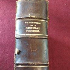 Libros de segunda mano: LIBRO BOLETIN OFICIAL DE LA PROPIEDAD INDUSTRIAL. ENERO -MARZO 1949. REGISTRO DE PATENTES Y MARCAS.. Lote 156488852
