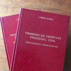 Libros de segunda mano: TRATADO DE DERECHO PROCESAL CIVIL, L. PRIETO-CASTRO (LOS DOS VOLÚMENES). Lote 156541272