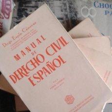 Libri di seconda mano: MANUAL DE DERECHO CIVIL ESPAÑOL. 4 VOLÚMENES. ESPÍN CÁNOVAS. 1974.. Lote 156692517