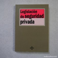Libros de segunda mano: LEGISLACIÓN DE SEGURIDAD PRIVADA - EDITORIAL TECNOS - 1995. Lote 156860470