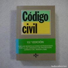 Libros de segunda mano: CÓDIGO CIVIL - EDITORIAL TECNOS - 1996. Lote 156860618