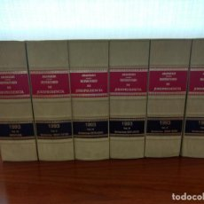 Libros de segunda mano: LOTE REPERTORIO DE JURISPRUDENCIA ARANZADI, AÑO 1993.. Lote 157274262