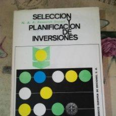 Libros de segunda mano: SELECCIÓN Y PLANIFICACIÓN DE INVERSIONES - N. A. A. RESEARCH REPORT. Lote 158151958