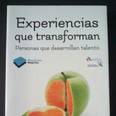 Libros de segunda mano: CTC - EXPERIENCIAS QUE TRANSFORMAN - VV.AA. - PLATAFORMA EMPRESA - SEMI NUEVO. Lote 158619262