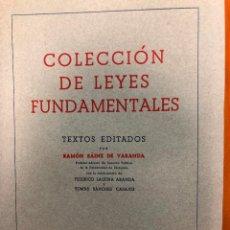 Libros de segunda mano: COLECCION DE LEYES FUNDAMENTALES . Lote 158656294