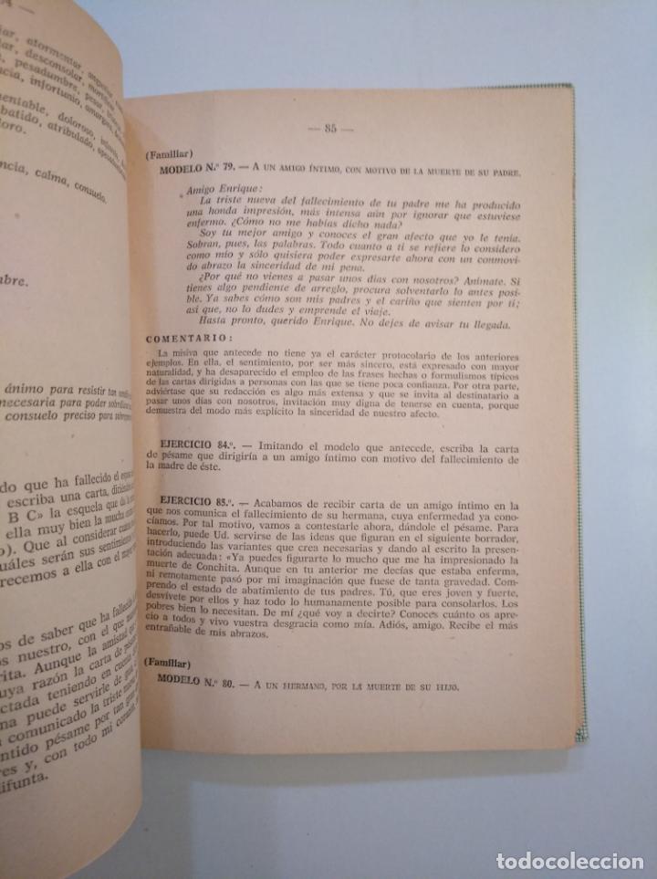 Libros de segunda mano: CURSO PRÁCTICO DE CORRESPONDENCIA GENERAL. ALBINO CAÑADA GINER. EDITORIAL MIQUEL 1961. TDK379 - Foto 4 - 158683718