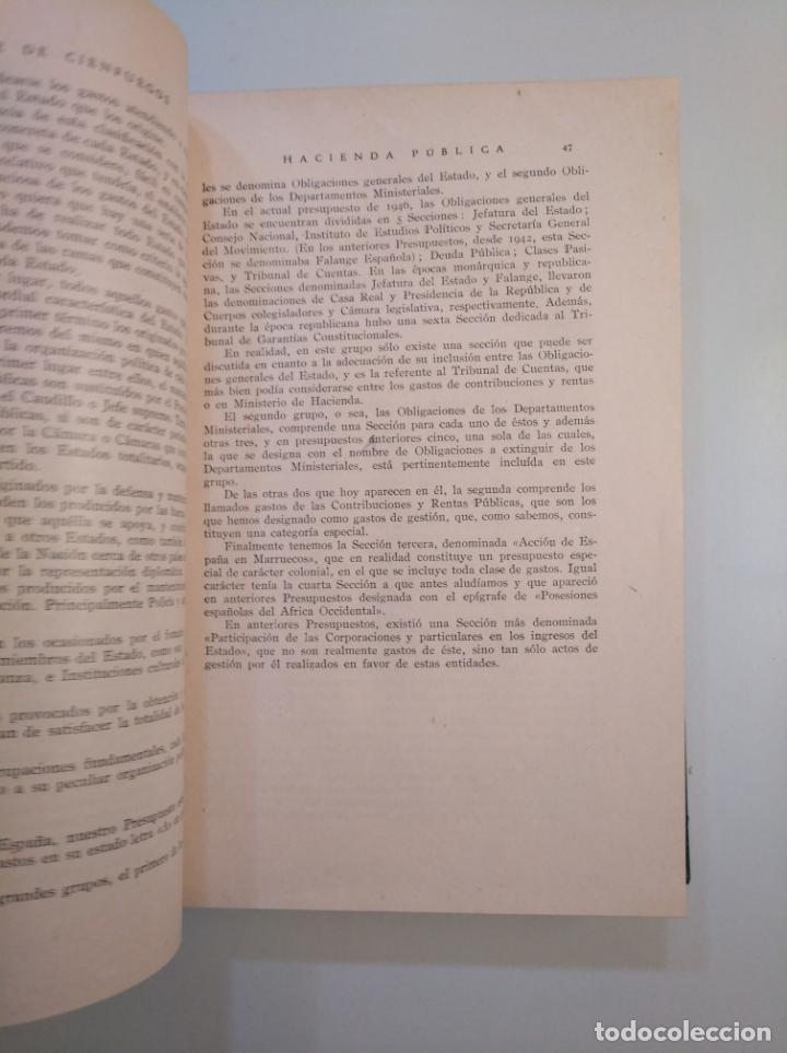 Libros de segunda mano: HACIENDA PUBLICA. JOSE ALVAREZ DE CIENFUEGOS. LIBRERIAS PRIETO. GRANADA 1947. TDK380 - Foto 2 - 158724370