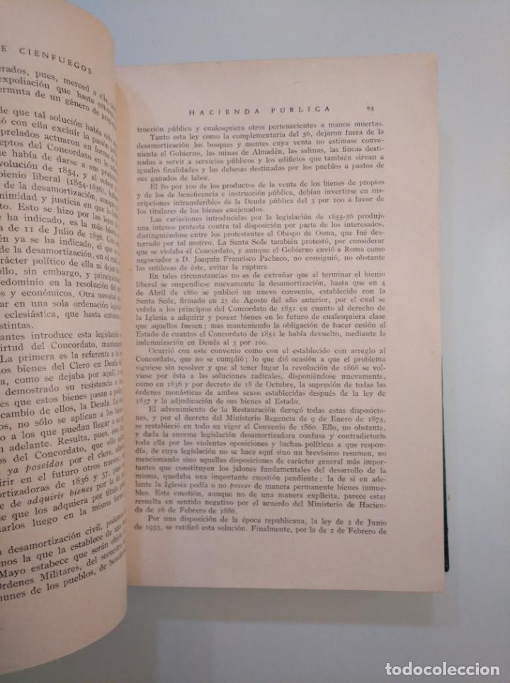 Libros de segunda mano: HACIENDA PUBLICA. JOSE ALVAREZ DE CIENFUEGOS. LIBRERIAS PRIETO. GRANADA 1947. TDK380 - Foto 3 - 158724370