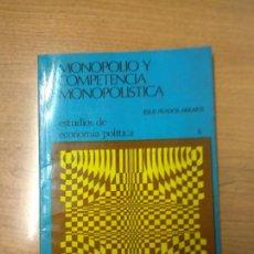 Libros de segunda mano: MONOPOLIO Y COMPETENCIA MONOPOLÍSTICA. Lote 159269638