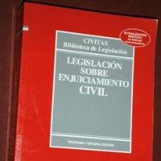Libros de segunda mano: LEGISLACIÓN SOBRE ENJUICIAMIENTO CIVIL POR JULIO BANACLOCHE PALAO DE ED. CIVITAS EN NAVARRA 2010. Lote 159302714