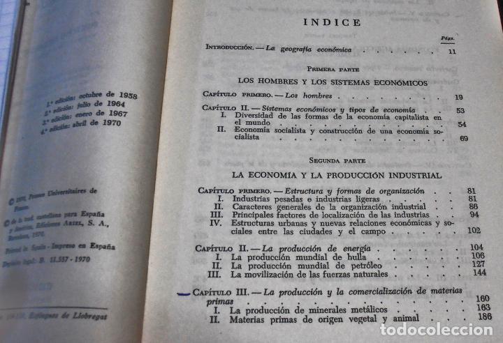 Libros de segunda mano: GEOGRAFIA ECONOMICA, PIERRE GEORGE - Foto 3 - 160485706