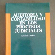 Libros de segunda mano: AUDITORIA Y CONTABILIDAD EN LOS PROCESOS JUDICIALES. BARTOLOME LORA LARA. DEUSTO. 1992.. Lote 160839190
