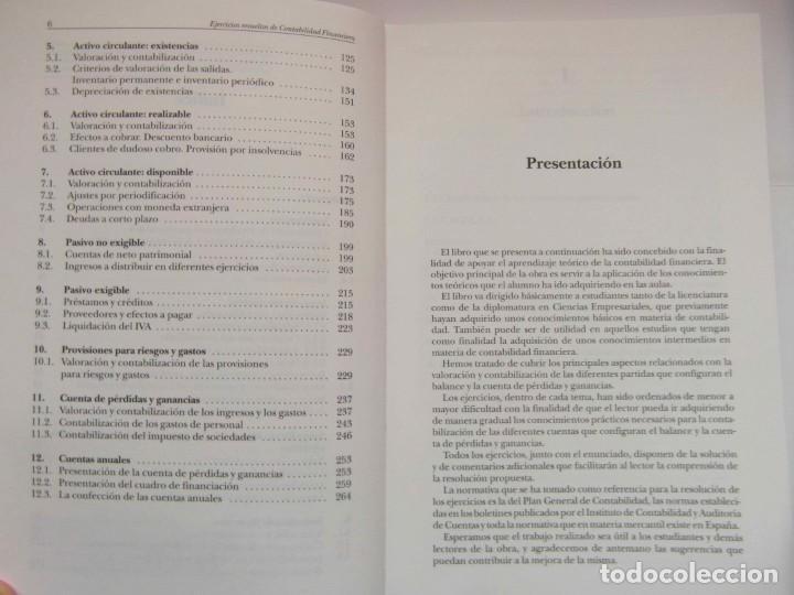 Libros de segunda mano: EJERCICIOS RESUELTOS DE CONTABILIDAD FINANCIERA. TERESA MONLLAU. 1997. DEBIBL - Foto 3 - 162841870