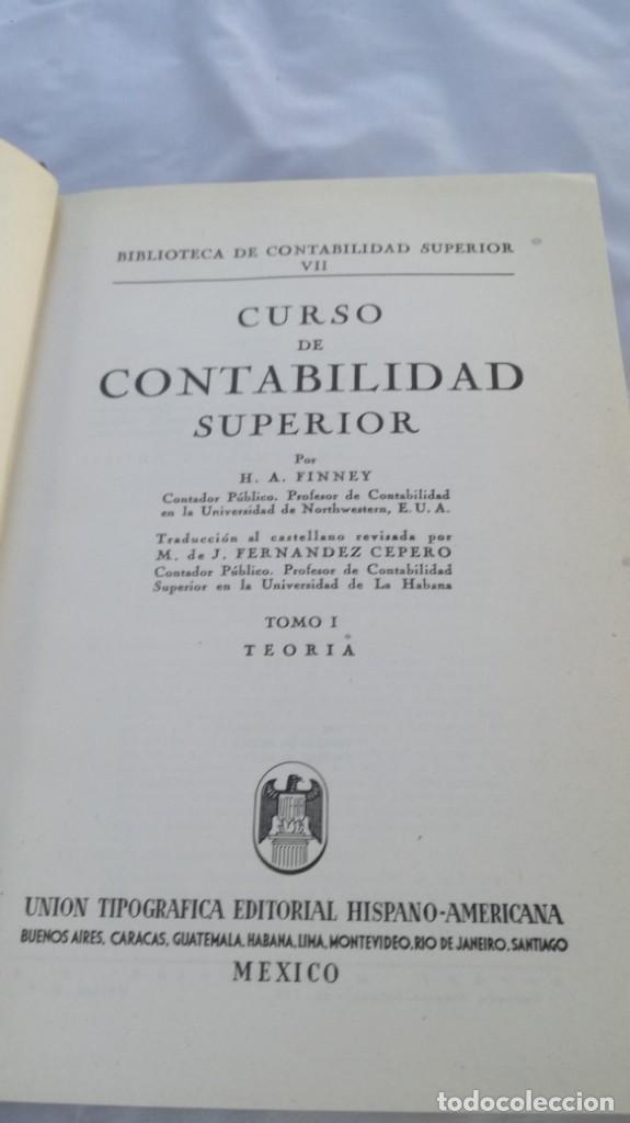 Libros de segunda mano: CURSO DE CONTABILIDAD SUPERIOR/ FINNEY/ BIBLIOTECA CONTABILIDAD SUPERIOR/ VII - TOMO 1 - Foto 5 - 164125426