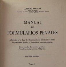 Libros de segunda mano - MANUAL DE FORMULARIOS PENALES. ARTURO MAJADA. TOMO I. 3ª EDICION. BOSCH. BARCELONA, 1964 - 165090042