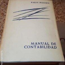 Libros de segunda mano: MANUAL DE CONTABILIDAD - PALLE HASEN - EDITORIAL AGUILAR - 1967. Lote 165595034
