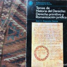 Libros de segunda mano: TEMAS DE HISTORIA DEL DERECHO . SEIS LIBROS. Lote 166310914