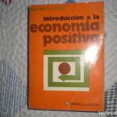 Libros de segunda mano: INTRODUCCIÓN A LA ECONOMÍA POSTIVA;RICHARD G.LIPSEY;VICENS 1977. Lote 167396224