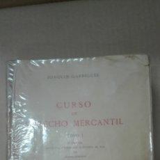 Libros de segunda mano: CURSO DE DERECHO MERCANTIL-JOAQUIN GARRIGUES-TOMO1968. Lote 167580344