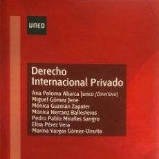 Libros de segunda mano: VV.AA. DERECHO INTERNACIONAL PRIVADO. UNED, 2015. . Lote 167614132