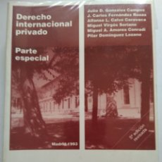 Libros de segunda mano: DERECHO INTERNACIONAL PRIVADO. Lote 167763346