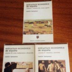 Libros de segunda mano: ESTRUCTURA ECONÓMICA DE ESPAÑA. 3 VOLÚMENES. 1.975. BIBLIOTECA UNIVERSITARIA GUADIANA. Lote 167969672