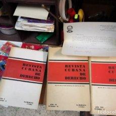 Libros de segunda mano: 3 MAGNÍFICOS LIBROS REVISTA CUBANA DE DERECHO AÑOS 70 MÁS 1 CARTA TRIPULANTE DE BARCO. Lote 168914312