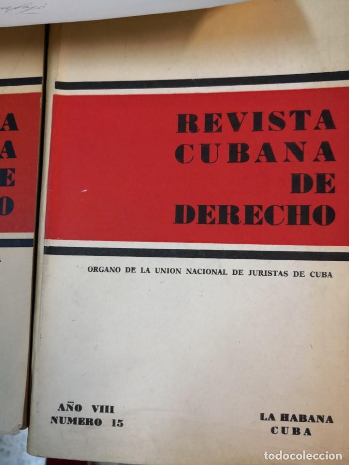 Libros de segunda mano: 3 magníficos libros REVISTA CUBANA DE DERECHO AÑOS 70 MÁS 1 CARTA Tripulante de barco - Foto 4 - 168914312