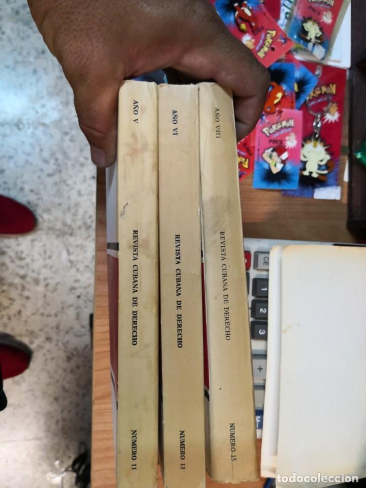 Libros de segunda mano: 3 magníficos libros REVISTA CUBANA DE DERECHO AÑOS 70 MÁS 1 CARTA Tripulante de barco - Foto 5 - 168914312