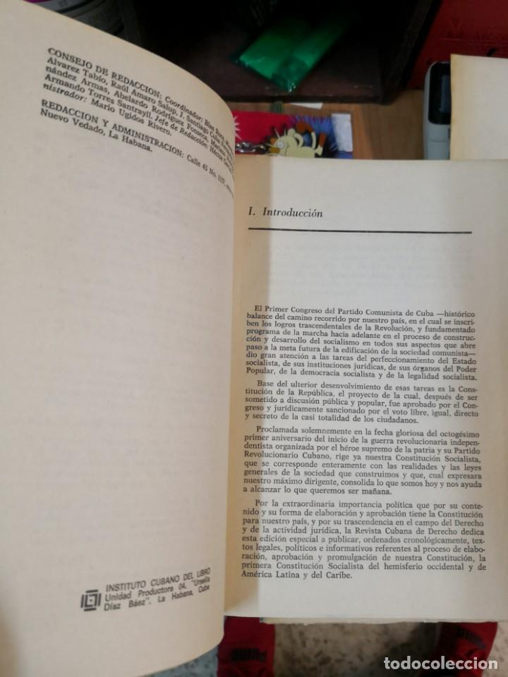 Libros de segunda mano: 3 magníficos libros REVISTA CUBANA DE DERECHO AÑOS 70 MÁS 1 CARTA Tripulante de barco - Foto 7 - 168914312