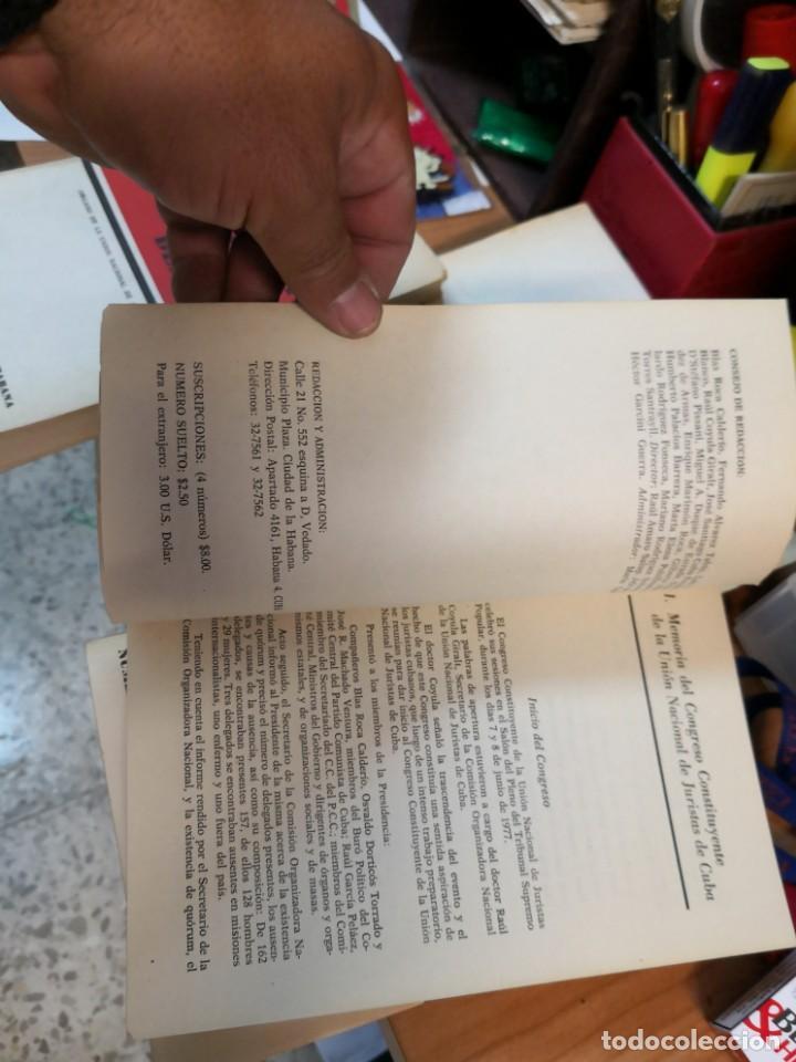 Libros de segunda mano: 3 magníficos libros REVISTA CUBANA DE DERECHO AÑOS 70 MÁS 1 CARTA Tripulante de barco - Foto 9 - 168914312