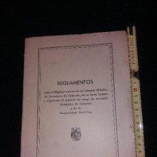 Libros de segunda mano: REGLAMENTOS COLEGIOS OFICIALES DE CORREDORES DE COMERCIO JUNTA CENTRAL MUTUALIDAD BENÉFICA 1960 ÚNI. Lote 169359408