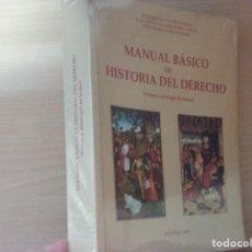 Libros de segunda mano: MANUAL BÁSICO DE HISTORIA DEL DERECHO - ENRIQUE GACTO FERNANDEZ - JUAN ANTONIO ALEJANDRE GARCÍA . Lote 169824988