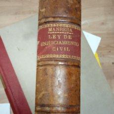 Libros de segunda mano: LEY DE ENJUICIAMIENTO CIVIL TOMO II JOSE MARIA MANRESA 1944. Lote 170013460