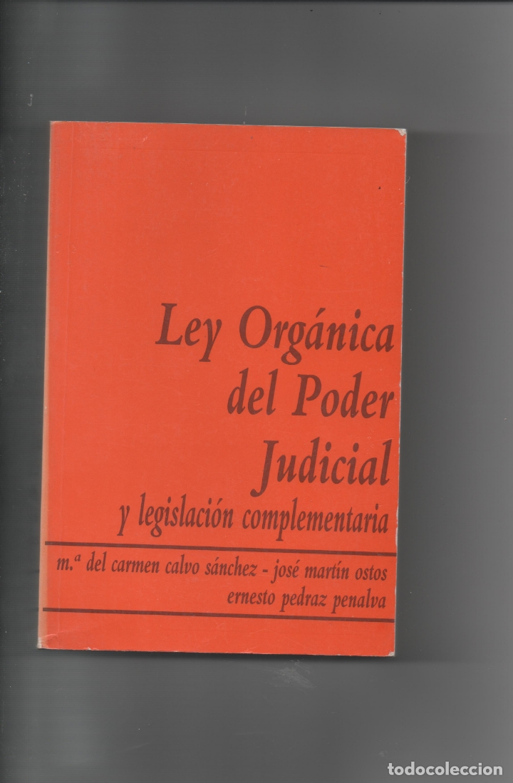 LEY ORGÁNICA DEL PODER JUDICIAL. VARIOS AUTORES. (Libros de Segunda Mano - Ciencias, Manuales y Oficios - Derecho, Economía y Comercio)