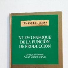 Libros de segunda mano: NUEVO ENFOQUE DE LA FUNCIÓN DE PRODUCCIÓN. CALIDAD Y FLEXIBILIDAD - ARNOUD DE MEYER. TDK391. Lote 171731600