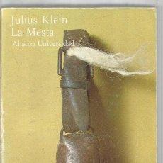 Livros em segunda mão: JULIUS KLEIN. LA MESTA. ALIANZA UNIVERSIDAD. Lote 171757823