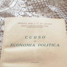 Libros de segunda mano: ANTIGUO LIBRO CURSO DE ECONOMÍA POLÍTICA 1952. Lote 172708127