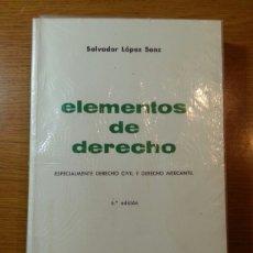 Libros de segunda mano: ELEMENTOS DE DERECHO. Lote 172828370