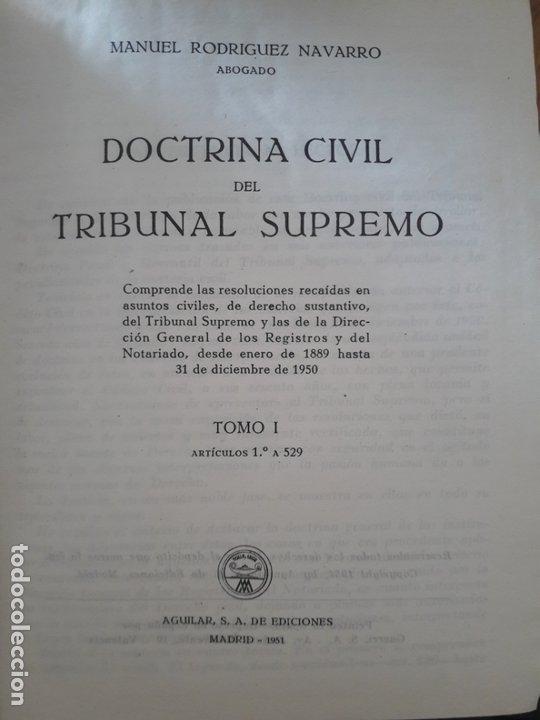 Libros de segunda mano: Doctrina civil del Tribunal Supremo Editorial: Aguilar., 1951 - Foto 2 - 172987309