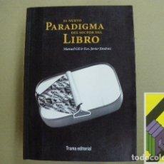 Libros de segunda mano: GIL, MANUEL/ JIMENEZ, FRANCISCO JAVIER: EL NUEVO PARADIGMA DEL SECTOR DEL LIBRO. Lote 173006203