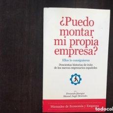 Libros de segunda mano: ¿ PUEDO MONTAR MI PROPIA EMPRESA?. FERNANDO JÁUREGUI. Lote 173431225