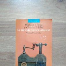 Libros de segunda mano: LA SEGUNDA RUPTURA INDUSTRIAL. MICHAEL J. PIORE Y CHARLES F. SABEL.. Lote 173452339