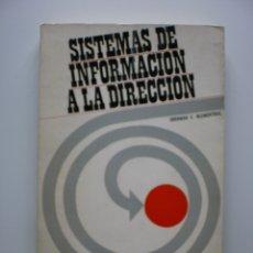 Libros de segunda mano: SISTEMAS DE INFORMACION A LA DIRECCION. Lote 173496402