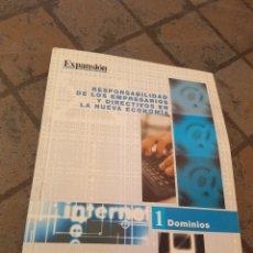 Libros de segunda mano: RESPONSABILIDAD DE LOS EMPRESARIOS Y DIRECTIVOS DIRECTIVOS EN LA ECONOMÍA EXPANSIÓN. Lote 173630713