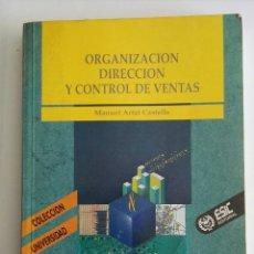 Libros de segunda mano: ORGANIZACIÓN, DIRECCIÓN Y CONTROL DE VENTAS ESIC. Lote 173680227