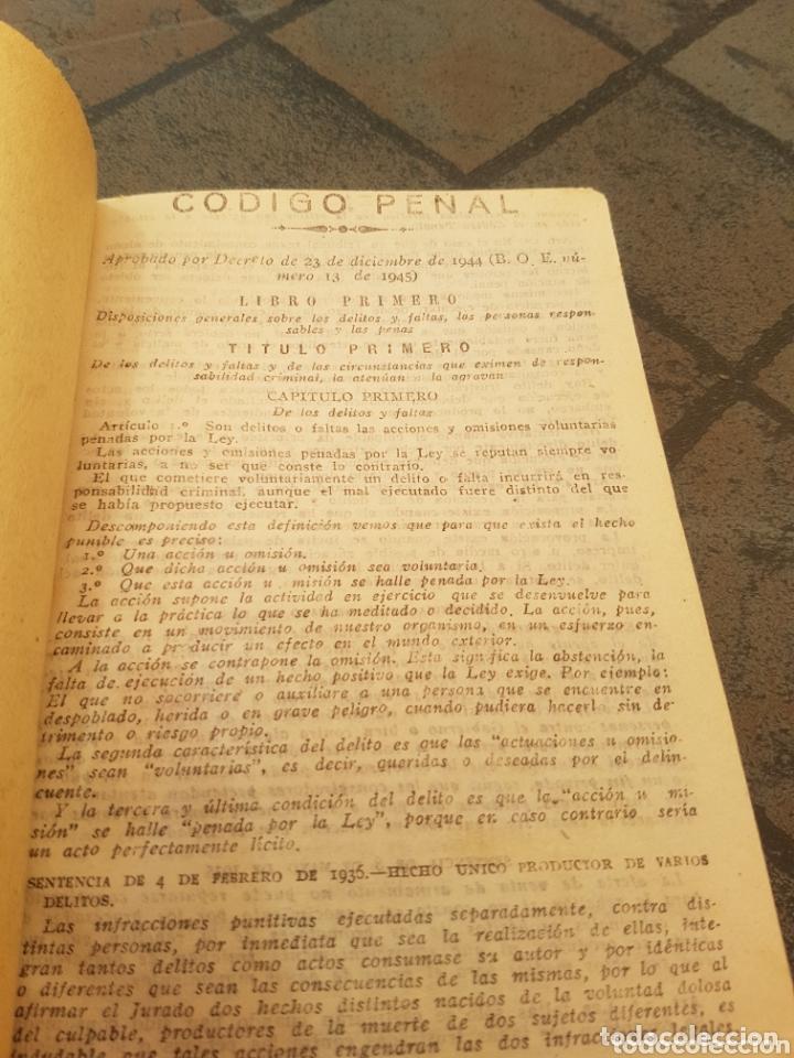 Libros de segunda mano: Código Penal 1944 - Foto 2 - 173846994