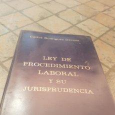 Libros de segunda mano: LEY DE PROCEDIMIENTO LABORAL ESO JURISPRUDENCIA PRIMERA EDICIÓN 1974. Lote 173849502